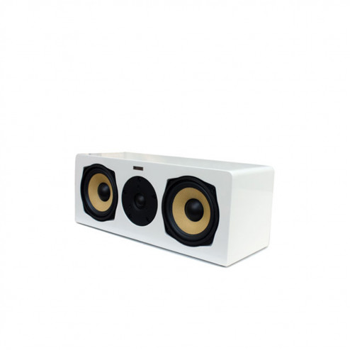 AAT C-140 - Caixa acústica central para Home Theater - White Lacquer