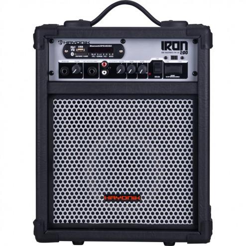 Caixa 30W Bluetooth/USB/SD/FM IRON 200 Preta HAYONIK