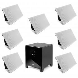 """AAT Elegance 12"""" - Conjunto 7.1 com caixas de embutir e sub ativo de 12"""" - Black Piano"""