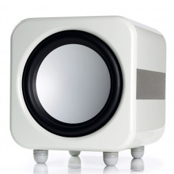 "Monitor Audio Apex W12 - Subwoofer ativo para Home Theater de 12"" 500w RMS - Branco Laqueado"