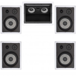 Kit 5.0 Caixas de Embutir Loud para Home Theater - 1x LHT-100 + 4x LHT-TW100 - Branco