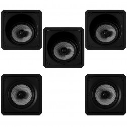 Kit 5.0 Caixas de Embutir Loud para Home Theater - 3x SL6-120 BL LX + 2x SQ6-120 BL LX - Branco