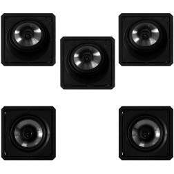 Kit 5.0 Caixas de Embutir Loud para Home Theater - 3x SL6-120 BL + 2x SQ6-120 BL - Branco