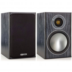 Monitor Audio Bronze 1 - Par de caixas acústicas Bookshelf/Surround 2-vias para Home Theater - Black