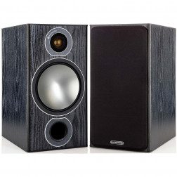 Monitor Audio Bronze 2 - Par de caixas acústicas Bookshelf 2-vias para Home Theater - Black Oak