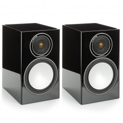 Monitor Audio Silver 1 - Par de caixas acústicas Bookshelf 2-vias para Home Theater - Black Gloss
