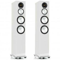 Monitor Audio Silver 10 - Par de caixas acústicas Torre 3-vias para Home Theater - White Gloss