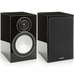 Monitor Audio Silver 2 - Par de caixas acústicas Bookshelf 2-vias para Home Theater - Black Gloss