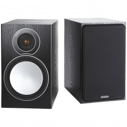 Monitor Audio Silver 2 - Par de caixas acústicas Bookshelf 2-vias para Home Theater - Black