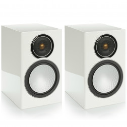 Monitor Audio Silver 2 - Par de caixas acústicas Bookshelf 2-vias para Home Theater - White