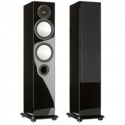 Monitor Audio Silver 6 - Par de caixas acústicas Torre 2,5-vias para Home Theater - Black Gloss
