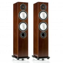 Monitor Audio Silver 6 - Par de caixas acústicas Torre 2,5-vias para Home Theater - Walnut
