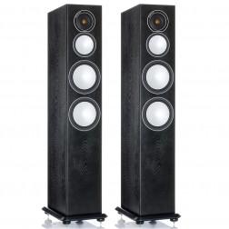 Monitor Audio Silver 8 - Par de caixas acústicas Torre 3-vias para Home Theater - Black