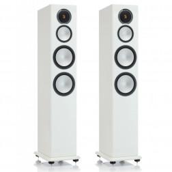 Monitor Audio Silver 8 - Par de caixas acústicas Torre 3-vias para Home Theater - White Gloss