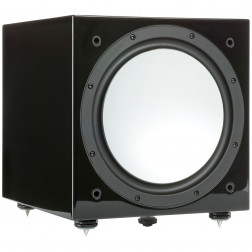 "Monitor Audio Silver W12 - Subwoofer ativo de 12"" com 500w - Black Gloss"