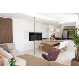Suporte Giratório TV para fixação do piso ao teto até 3 metros