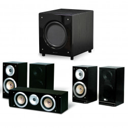 Pure Acoustics QX900 Conjunto Home Theater 5.1 Sub Ativo - Black